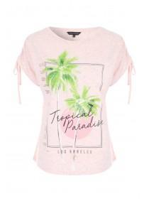 Womens Tropical Print T-Shirt