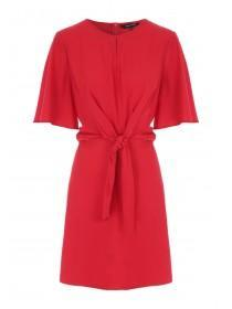 Womens Red Knot Detail Dress