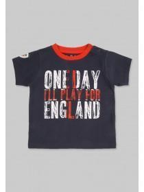 Baby Boys Blue England Slogan T-Shirt