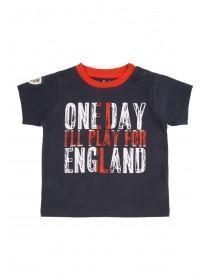 Baby Boys Blue England Slogan T-Shirt