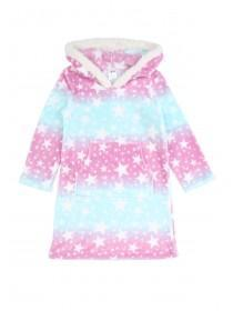 Girls Pink Star Fleece Nightdress