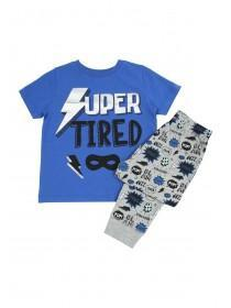 Younger Boys Blue Super Tired Pyjama Set