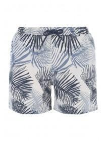 Mens Blue Palm Swim Shorts