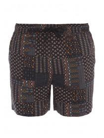 Mens Black Aztec Swim Shorts