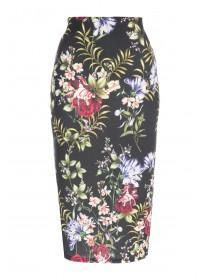 Womens ENVY Black Floral Pencil Skirt