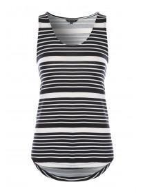Womens Monochrome Stripe Vest Top