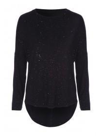 Womens Black Lurex Pyjama Top