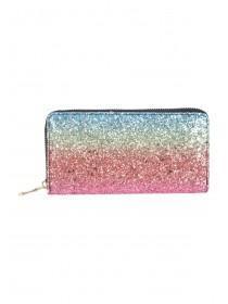 Womens Rainbow Glitter Purse