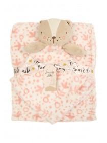 Baby Girls Pink Bear Comforter Set