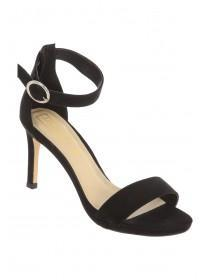 Womens Black Strappy Heels
