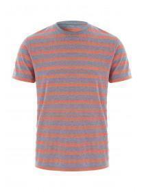 Mens Neon Orange Stripe T-Shirt