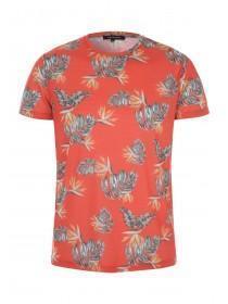 Mens Coral Tropical T-Shirt