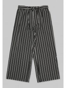 Older Girls Monochrome Stripe Trousers