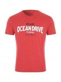 Mens Red Slogan T-Shirt