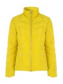 Womens Yellow Short Padded Coat