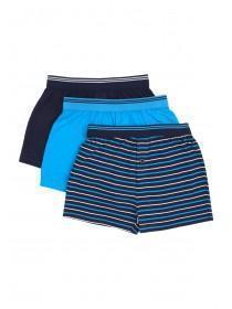 Boys 3pk Blue Loose Fit Boxers