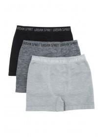 Older Boys 3pk Grey Seamfree Boxers