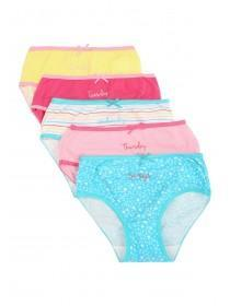 Younger Girls 5pk Days of the Week Briefs