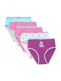 Older Girls 5pk Purple Mermaid Briefs
