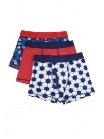 Younger Boys 3pk Football Trunks