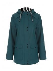 Womens Teal Mac Jacket
