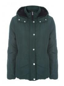 Womens Dark Green Padded Coat