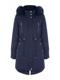 Womens Navy Parka Coat