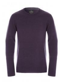 Mens Dark Purple Crew Neck Jumper