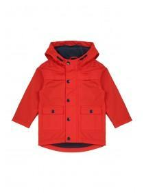 Younger Boys Red Fleece Lined Rubber Jacket