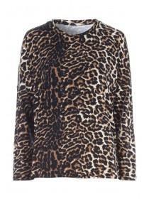 Womens Brown Leopard Print Lounge Top