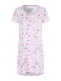 Womens Pink Unicorn Nightdress