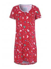 Womens Red Christmas Nightdress