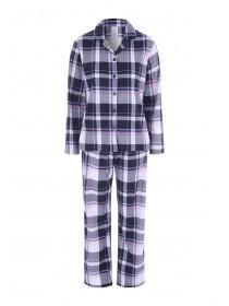 Womens Navy Check Pyjama Set