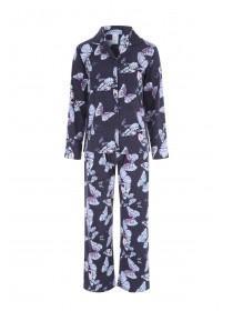 Womens Blue Butterfly Pyjama Set