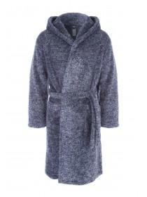 Mens Navy Marl Dressing Gown
