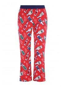 Mens Red Christmas Pyjama Bottoms