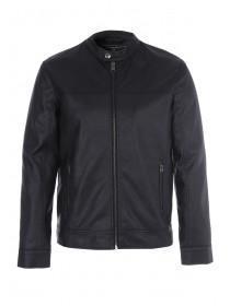 Mens Black PU Biker Jacket