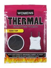 Womens Black Thermal Cami Top