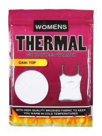 Womens White Thermal Cami Top