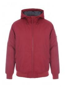 Mens Dark Red Hooded Jacket