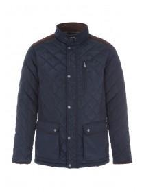 Mens Navy Blue Padded Jacket