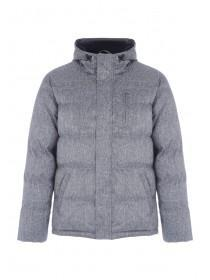 Mens Grey Textured Padded Coat
