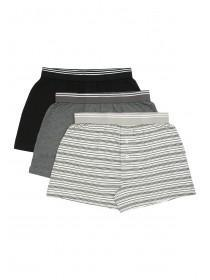 Mens 3pk Grey Loose Fit Boxers