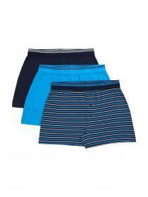 Mens 3pk Blue Loose Fit Boxers