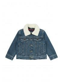 Younger Boys Blue Denim Borg Collar Jacket