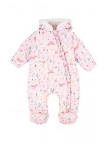 Baby Girls Pink Forest Print All In One
