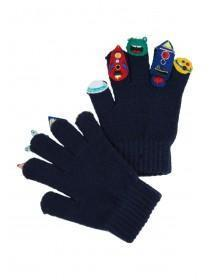 Younger Boys Navy Alien Gloves