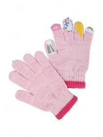 Younger Girls Pale Pink Unicorn Gloves