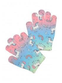 Younger Girls Multicolour Unicorn Gloves
