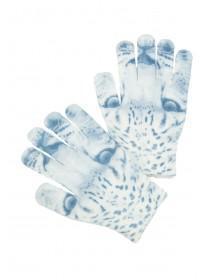 Older Girls Monochrome Leopard Gloves